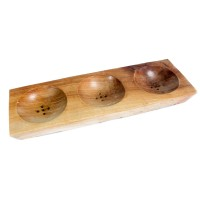 Three Bay Mahogany Soap Dish