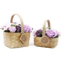 Large Lilac Bouquet in Wicker Basket