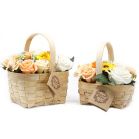 Large Orange Bouquet in Wicker Basket