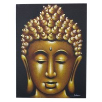 Buddha Painting - Gold Sand Finish