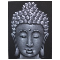 Buddha Painting - Grey Sand Finish