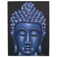 Buddha Painting - Blue Sand Finish