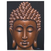 Buddha Painting - Copper Sand Finish