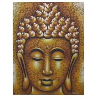 Buddha Painting - Gold Brocade Detail