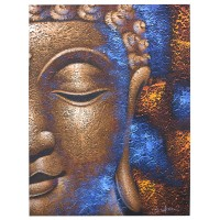 Buddha Painting - Copper Face